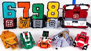 Power Rangers Zyuohger number cube vs Number 67890 transformation combine robot - DuDuPopTOY