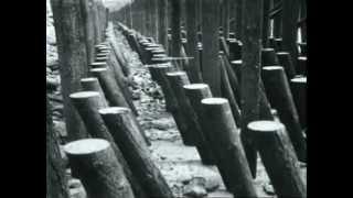 Engineering footage of  Alaskan Way Seawall construction at Railroad Avenue