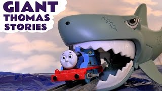 Thomas and Friends episodes of Pranks Sharks & Surprise Eggs Family fun toys stories