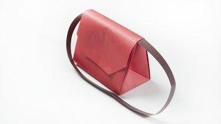 How to make a paper handbag   Origami clutch