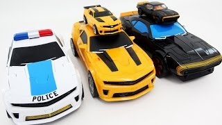 Transformers Ko Big Size Police High Octane Bumblebee Same Deluxe Bumblebee 5 Vehicle Robot Car Toys