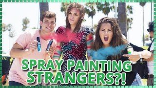Spray Painting Strangers?!   Do It For The Dough w/ Tessa Brooks and Anthony Trujillo