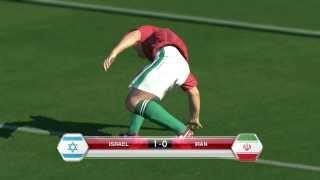 ISRAEL  GOAL  vs.  IRAN  - 2014