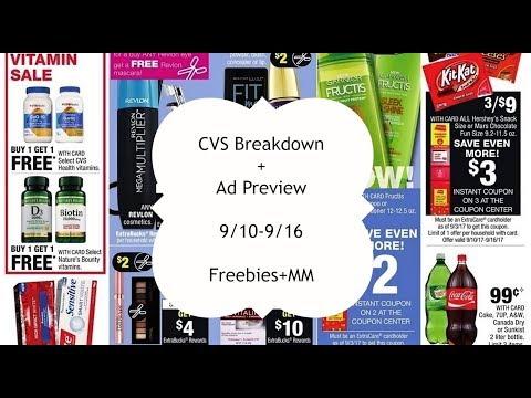 CVS Breakdown! 9/10-9/16 Freebies + MM