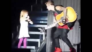 Justin Bieber playing with Jazzy on Stage in Cordoba, Argentina 2013 | Believe Tour