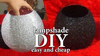 DIY-lamp shades-أعمال يدوية-طريقة أباجوره سهله من خامات فى المنزل-ج1