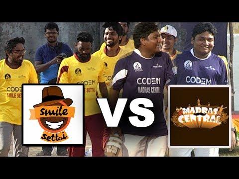 Xxx Mp4 Madras Central Vs Smile Settai Cricket Match Gopi As Opening Batsman Youtubers Cricket League 3gp Sex