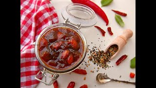 বিয়েবাড়ির স্বাদে টক-ঝাল-মিষ্টি আলুবোখারার চাটনি || Aloo Bukhara Chutney || Dried Plum Chutney Recipe