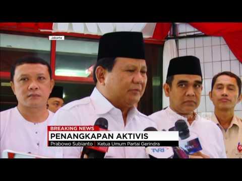 Prabowo Bicara Aksi 212 & Penangkapan Aktivis Makar