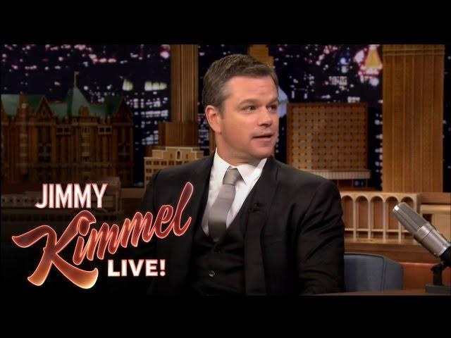 Matt Damon Insults Jimmy Kimmel on The Tonight Show