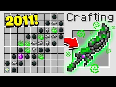 HOW TO CRAFT the WORLD S OLDEST MINECRAFT SWORD Minecraft 1.13 Crafting Recipe