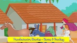 Horse & Donkey | Panchatantra English Stories | Stories For Kids | Stories For Children HD