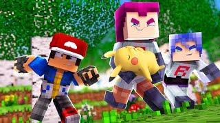 Minecraft: Acampamento Pokemon X Y - EQUIPE ROCKET ROUBOU MEU PIKACHU !! #4