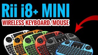 Rii i8+ MINI WIRELESS KEYBOARD/MOUSE REVIEW! GREAT KEYBOARD AND MOUSE FOR KODI ANDROID TV!
