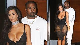 Kim Kardashian Wears See-Through Dress To Miami Saint Pablo Concert - Kanye Joins Instagram