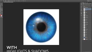 Realistic Eyes using Iris Parts Photoshop & GIMP Brushes Tutorial