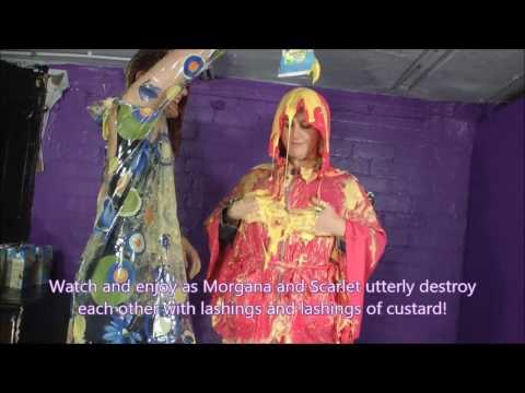 Morgana and Scarlet in Denim and Rainwear The Trailer