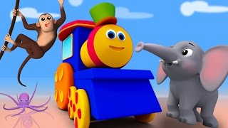 Bob The Train | abc song | Animal Alphabets Song | Nursery Rhymes
