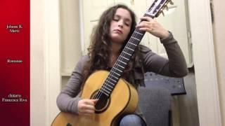 JOHAN KASPAR MERTZ - Romanze - chitarra Francesca Riva