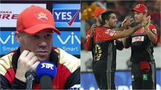 SRH v RCB: David Warner Not Too Impressed With Tabraiz Shamsi's Celebration