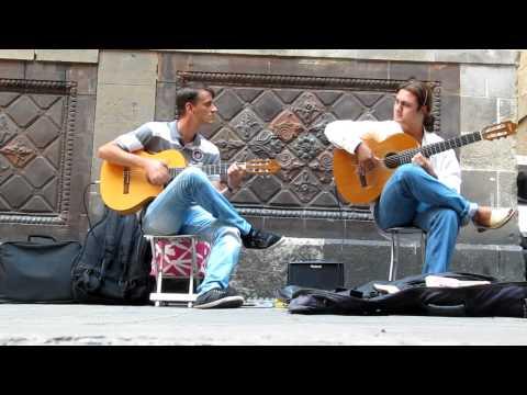 Flamenco Guitar. Barcelona street music HD