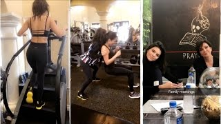 Work Out | Kourtney Kardashian Newest Snapchat Video