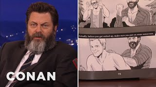 Nick Offerman's Book Features A Homoerotic Chris Pratt Comic  - CONAN on TBS