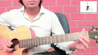 Kabhi jo badal barse intro guitar solo lesson (www.tamsguitar.com)