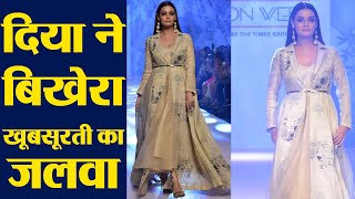 Dia Mirza walks the ramp for Bombay Times Fashion Week 2019 |FilmiBeat