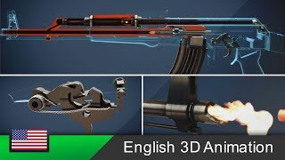 AK-47 - How this rifle works! (Animation)