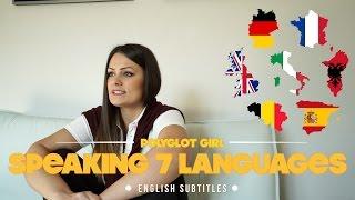 Polyglot girl speaking 7 languages | English subtitles