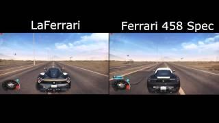 The Crew - LaFerrari vs Ferrari 458 spec