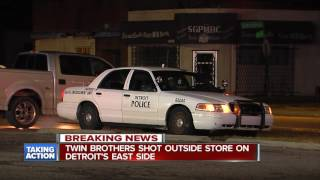 Two brothers shot outside store on Detroit's east side