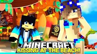 Minecraft Little Carly-KISSING BOYS ON THE BEACH!!