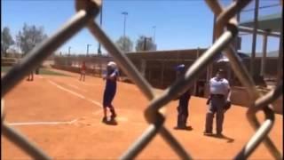 Broken Aluminum Bat In Travel Softball Game!
