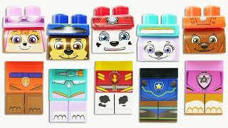 Paw Patrol Trolls PEZ Candy Dispensers Wrong Heads, Body Parts   Learning Colors Kids Video Teeth