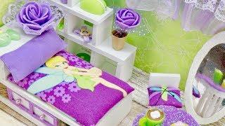 DIY Miniature Dollhouse Room - Disney Fairy Tinkerbell!