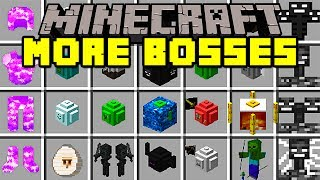 Minecraft MORE BOSSES MOD! | FIGHT BIG BOSSES, TITANS, TURN INTO A GIANT, & MORE! | Modded Mini-Game