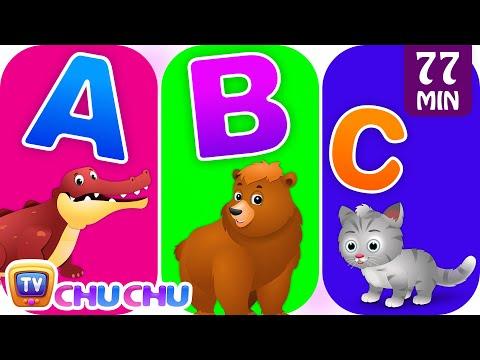 ChuChu TV Alphabet Animals Song with Animal Names & Animal Sounds | Nursery Rhymes for Kids