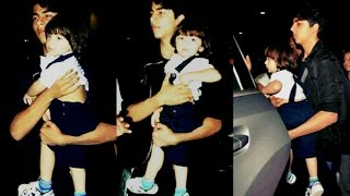Shahrukh Khan Son Aryan Khan Holding Abram Khan