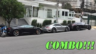 Porsche 991 Turbo S MKII, Panamera Turbo S Exclusive e Lamborghini Gallardo LP560 4