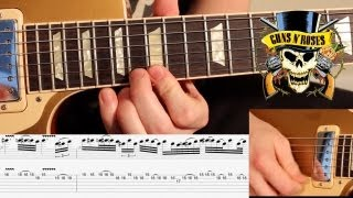 'NOVEMBER RAIN' - by GNR - OUTRO SOLO - Video Lesson *WITH TABS* - Lesson by Karl Golden