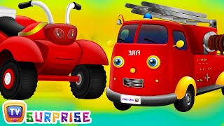 Surprise Eggs Toys - UTILITY Vehicles for Kids | Car, Fire Engine Truck & more | ChuChu TV Surprise