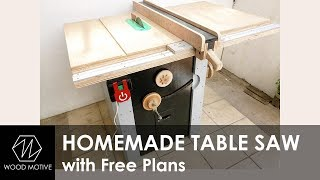 Homemade Table Saw with Free Plans - Part1