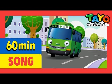 Wheels on the bus and More (60mins) l Nursery Rhymes l Tayo the Little Bus