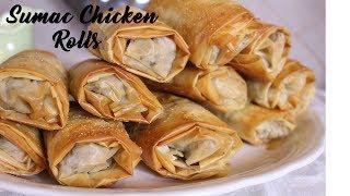 Sumac Chicken Rolls/ Musakhan Rolls & Plate