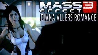 Mass Effect 3 Diana Allers romance (Jessica Chobot)
