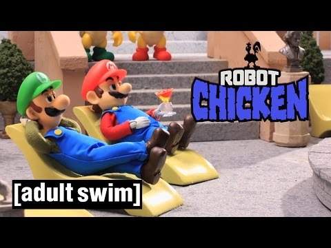 3 Classic Super Mario Moments Robot Chicken Adult Swim