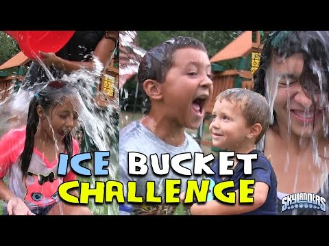 SKYLANDER BOY and GIRL take the ICE BUCKET CHALLENGE! w/ Lightcore Chase & Mom (Nominates...) ALS