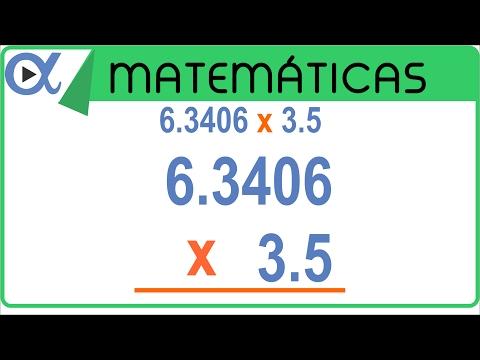 Multiplicación con punto decimal ejemplo 3 de 3 Aritmética Vitual
